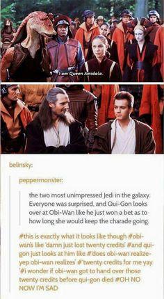 Bet between Obi-Wan and Qui-Gon Star War 3, Death Star, Last Jedi, Love Stars, I'm Sad, Bad Feeling, Reylo Tumblr, Shadow Book, Colonel Sanders