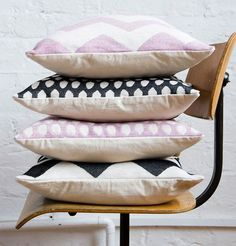 Lovely collection - Tori Murphy's cushions and pillows. #pattern#design#surface design#cushion#pillows#interior#decor