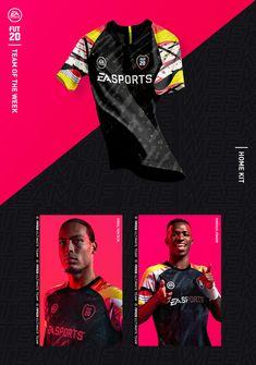 Football Jerseys, Sports Jersey Design, Football Design, Ea Sports, Sports Brands, Fifa 20, Soccer, T Shirt, Sports
