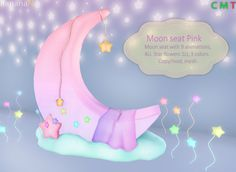 Moon seat available at BananaN inworld in Second Life.