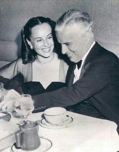 Paulette Goddard & husband Charles Chaplin
