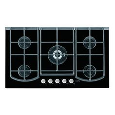 AEG HG995440NB 5 Burner Gas On Glass Hob Black 900mm
