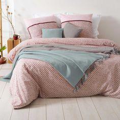 Jeté de lit réversible à franges (GRIS / BLEU) Comforters, Blanket, Bedroom, Cousin, Outre, Furniture, Collection, Cas, Dimensions