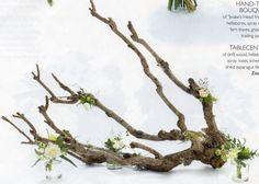 Wedding Flowers driftwood tablecentre Zita Elze