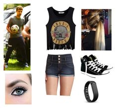 """""""Ball is Life"""" by ivorneth ❤ liked on Polyvore featuring Payne, Charlotte Russe, Converse and Fitbit"""