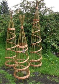 Willow Craft Designs Plant Supports. Could be good for Garden or Farm Weddings just thread with flowers.