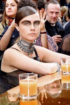 Chanel Autumn/Winter 2015 Show Report: Brasserie Gabrielle - Bonjour, Cara Delevingne!