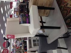 White Leather Dining Chair With Nail Heads Tjmaxx