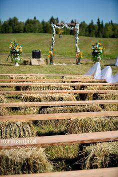 renting hay bales wedding - Google Search