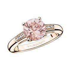Un Grand Mot de Tendresse ring, by Mauboussin. Rose gold, morganite and diamonds. Instagram Mauboussin Singapore: https://instagram.com/p/y6dLvRMJEs/?taken-by=mauboussin_singapore
