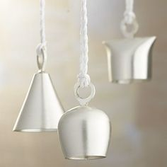 Silver Bell Ornaments