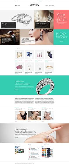 Jewelry Online Webshop #Virtuemart #template. #themes #business #responsive