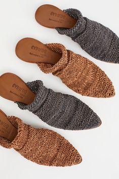 Highlands Mule from Free People! Sock Shoes, Cute Shoes, Me Too Shoes, Shoe Boots, Wedge Shoes, Shoes Sandals, Heels, Crochet Shoes, Trendy Shoes