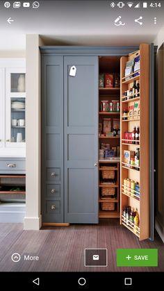 Food pantry storage on door