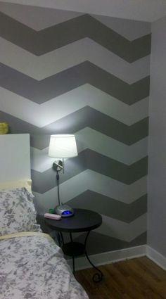 DIY Chevron      : DIY Chevron Stripes : DIY home decor wall art