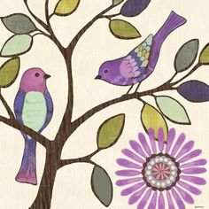 Bird Bliss 2 Two by Jennifer Brinley | Ruth Levison Design