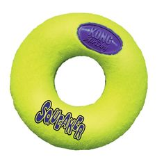 KONG AirDog Donut $6.02 (on Amazon for Small) $7.53 (on Amazon for Medium) $8.82 (on Amazon for Large) Tennis Ball Material and Squeaker. (3 Sizes Available)