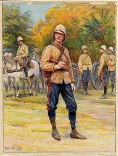 French; Artillerir de la Marine, Tenue Colonial c1906 by Alphonse Lalouze