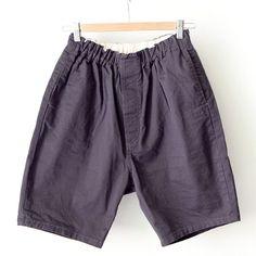 【Men's&Ladies'】ordinary fits オーディナリーフィッツ Travel shorts : charcoal トラベルショーツ チャコール