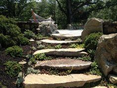 New England Fieldstone steps.