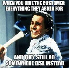 Too funny...not in sales