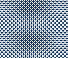 Diamond Flower - Midnight fabric by brownpaperpackages on Spoonflower - custom fabric