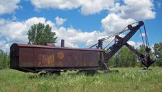 Marion Steam Shovel, Le Roy, NY, USA. Only known remaining Marion Model 91 shovel. May have been used in excavating the Panama Canal and is possibly the largest remaining steam shovel