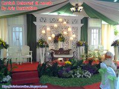 Dekorasi pelaminan pernikahan di rumah terbaru konsep modern elegan surabaya junglespirit Image collections