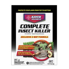 BAYER ADVANCED 20-lbs Complete Insect Killer- Lawns.  Gets rid of Grubs, ticks, fleas and more