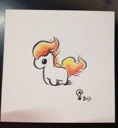 Chibi Pokemon Originals Ponyta by Italiux on Etsy