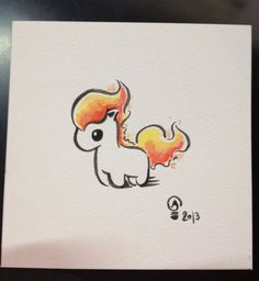 Chibi Pokemon Originals Ponyta by Italiux on Etsy