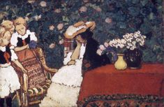 Woman with Three Girls, 1909 by Jozsef Rippl Ronai (1861-1927, Hungary) | Reproductions Jozsef Rippl Ronai | WahooArt.com Oil Painters, Arts And Entertainment, Creative Art, Cotton Canvas, Giclee Print, Third, Canvas Prints, Woman, Hungary