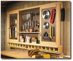Woodworking Plans Tool | dn3097-close-pegboard-tool-cabinet-from-woodworking-plans