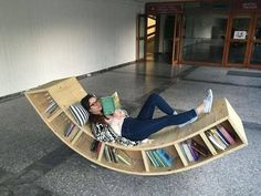 Chair bookcase made by Sofia Alexiou for. - Chair bookcase made by Sofia Alexiou for the Athens University's library – - Home Decor Furniture, Unique Furniture, Diy Home Decor, Furniture Design, Furniture Dolly, Library Furniture, Furniture Stores, Cheap Furniture, Furniture Ideas