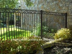 Wrought iron front yard fence