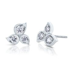 490427cd5 Dazzle in everlasting blooms with Devotion Petal diamond studs. A timeless  earring for any occasion