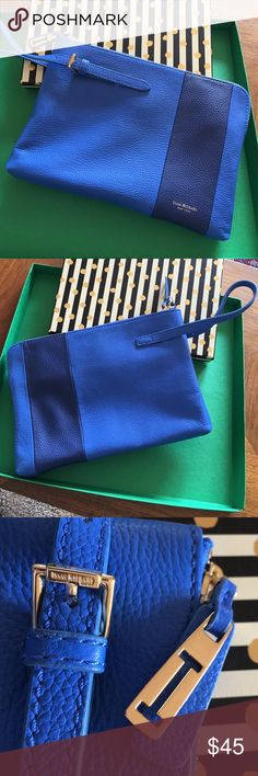 Isaac Mizrahi Blue Two-Toned Clutch/Large Wristlet Authentic Isaac Mizrahi Blue Two-Toned Clutch that can also be considered a Large Wristlet because of the strap. EUC! Isaac Mizrahi Bags