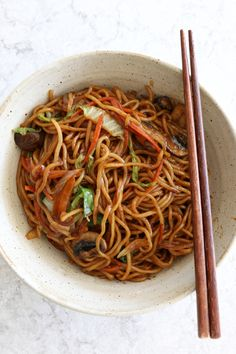 Vegetable Lo Mein with Cabbage and Mushrooms. Veggie Lo Mein is one of our favorite things to make. This version calls for some specific ingredients and a visit to the Asian market. If you've made my Beef with Broccoli, you probably have everything you need at home. I hope you try this recipe. Lunch Recipes, Vegetable Recipes, Vegetarian Recipes, Fancy Dinner Recipes, Delicious Dinner Recipes, Vegetable Lo Mein, Vegetable Dishes, Order Chinese Food, Becoming Vegetarian
