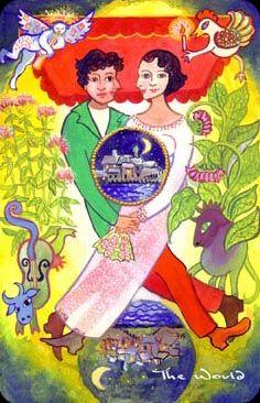 The Wild Green Chagallian Tarot - the World