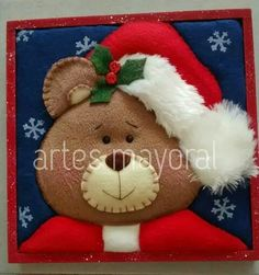 Felt Christmas, Christmas Crafts, Christmas Ornaments, Kids Pillows, Teddy Bear, Halloween, Wallpaper, Toys, Animals