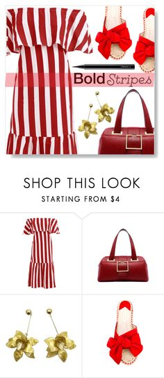 """Bold Stripes"" by simona-altobelli ❤ liked on Polyvore featuring Paloma Barceló and MAC Cosmetics"