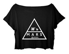 Women's Crop Top Thirty Seconds to Mars Shirt Jared Leto 30 Seconds to Mars T-shirt