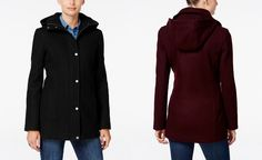 000b8ac31deae6 Tommy Hilfiger Hooded Peacoat, Only at Macy's - Coats - Women - Macy's Tommy  Shop