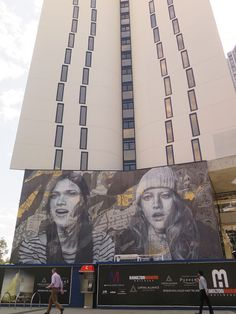 New mural by RONE in Melbourne, Australia. Rone street art, Rone murals, street art Melbourne
