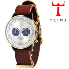 TRIWA×Tarnsjons レザー リストウォッチ 腕時計 BLUE FACE NEVIL ブラウン【送料無料】 wc-triwa-050