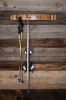 Banded Wine Barrel Stave Ski Rack on The Urban Barrel