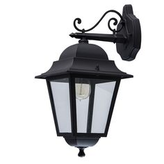 MW-Light 815020801 Outdoor Wall Light Metal Black Glass Classic Exterior Porch 1 x Excl Outdoor Wall Lantern, Outdoor Lighting, Missoni, Console, Suspension Design, Deco Design, Lanterns, Sconces, Wall Lights