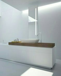 I love the clean lines in this bathroom.  It has a wonderful zen vibe.