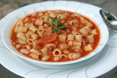 Quick Pasta e Fagioli is classic and iconic Italian #soup dish that means pasta and #beans; the only two ingredients common to the countless versions, ready in 30 minutes. #quickbrekfast #italiandish #eating #food