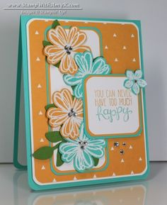 Flower Shop - Stamp With Amy K - see website for complete list of items used and cardstock sizes to create card